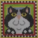 180 NEEDLEDEEVA 2.6 x 2.6 18 Mesh Dan the Cat