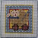 187 NEEDLEDEEVA 2.6 x 2.6 18 Mesh Mini It's a Boy