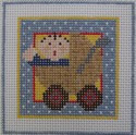 188 NEEDLEDEEVA 2.6 x 2.6 18 Mesh Mini It's a Girl