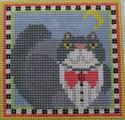 190 NEEDLEDEEVA 2.6 x 2.6 18 Mesh Mini Tuxedo Dan the Cat