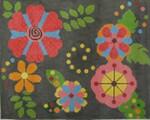 223 NEEDLEDEEVA 9.25 x 11 13 Mesh Retro Floral