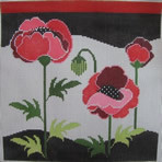 302 NEEDLEDEEVA 8 x 8 18 Mesh Poppies
