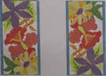 306J NEEDLEDEEVA 7.3 x 6.5 18 Mesh Eyeglass Case Tropical Flowers