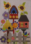 333A NeedleDeeva 18 Mesh 6 x 8 Gracie's Birdhouse Garden