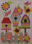 333C NeedleDeeva 6 x8  18 Mesh Barbara's Birdhouse Garden