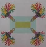 338 NeedleDeeva Tassel Pillow 13 Mesh 11.25 x 11.1 Barbara's Birdhouse Garden