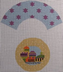 1368F  NeedleDeeva 6 x 7  18 Mesh The Holy City Cupcake