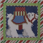 1382A NeedleDeeva 18 Mesh  4.5 x 4.5	 Polar Bear Square