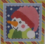 1382D NeedleDeeva 18 Mesh  4.5 x 4.5 Snow Girl Square
