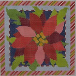 1382H NeedleDeeva 18 Mesh  4.5 x 4.5  Poinsettia Square