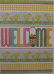 609 NeedleDeeva 5.5 x 7.75 18 Mesh Spring Welcome