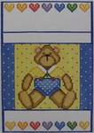 1106 NeedleDeeva 18 Mesh 4 x 6.5 Bear and Hearts Sampler