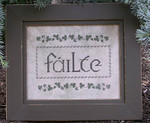 A. Fox Original Counted Cross Stitch Pattern Failte (Welcome)