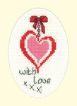HCK1208 Heritage Crafts Kit With Love  Greeting Cards by Michaela