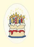 HCK1203 Heritage Crafts Kit Birthday Cake  Greeting Cards by Michaela
