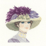 "HCK1129 Heritage Crafts Kit Hannah  Elegance Miniature  by John Clayton5"" x 5""; Evenweave; 27ct"