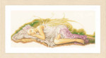 "PN150006 Lanarte Kit Sleeping Angel 32"" x 14""; Linen; 30ct"