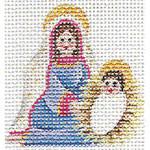 Rebecca Wood Designs 015a Mini Mary and Joseph 2 to 3 Inches