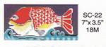 "SC-22 Ruby Fish 7""x 3.5"" Sophia Designs  Eyeglass Case"