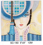 "SC-180 Green Checker Hat 9"" x 9"" 13M Sophia Designs"