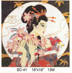 "SC-41 Geisha in the Moon 16"" x 16"" 13M Sophia Designs"