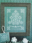14-2201 STL-0025 Snowflake Tree by ScissorTail Designs Framed: 75w x 93h, Ornament: 31 x 31