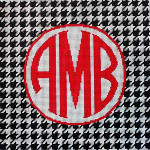 AA-793B Houndstooth Monogram/Black Associated Talents