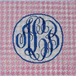 AA-793P Houndstooth Monogram/Pink Associated Talents