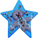 CT-1706 Gingerbread Boy Star Orna. Associated Talents
