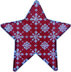 CT-1711 Snowflakes on Red Star Orna. Associated Talents