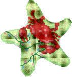 CT-1755 Red Crab/Lights Starfish Ornament Associated Talents