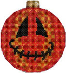 EE-1205 Jack O Patches Ball Ornament 3 x 3.5 18 Mesh Associated Talents