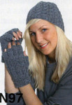 PKN97 Cable Hat & Fingerless Mittens
