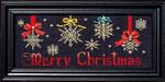 13-1968 Its A Snowflake Christmas (w/charms) Size: 152w x 64h Bobbie G Designs
