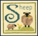 14-1890 S Is For Sheep 50 x 50 Elizabeth's Designs