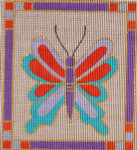 AW-17 Danji Designs ANN WINN Craftsman Butterfly 4 x 4 ½ 18 Mesh With Stitch Guide