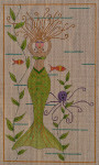 AW-03 Danji Designs ANN WINN Mermaid  6 x 10  18 Mesh With Stitch Guide