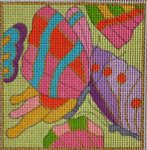 AW-13 Danji Designs ANN WINN Butterfly Wings  3 ½ x 3 ½  18  Mesh With Stitch Guide