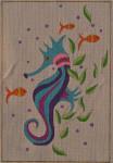 AW-04 Danji Designs ANN WINN Suzy Seahorse  7 x 10  18 Mesh With Stitch Guide