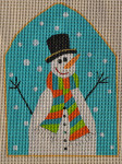 AW-07 Danji Designs ANN WINN Let it Snowman 4 x 5 ½ 18 Mesh With Stitch Guide