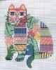 """84f Jean Smith Designs Jungle FAT CAT 9"""" x11""""  13 Mesh"""