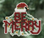 MH180305 Mill Hill Seasonal Ornament Kit Be Merry (2010)
