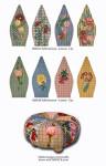 FS003B Floral/Plaid (pc. 2,4,6,8) 8 x 17,13g FOOTSTOOL Trubey Designs