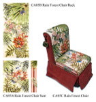 CA05C Trubey Designs CHAIR Rainforest  Seat And Back canvas set of 4 canvas