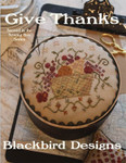 GIVE THANKS (CS) Band Box: 74w x 73h, Pincushion: 53w x 61h  Blackbird Designs
