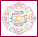 Brodeuse Bressane BB-JM Jewel Mandala Stitch Count: 120 x 120