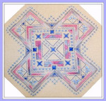 Brodeuse Bressane BB-G Geometric  Stitch Count: 88 x 88 With Silk Pack