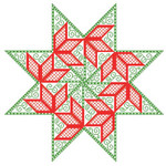 Brodeuse Bressane BB-PS Poinsettia Star With Silk Pack