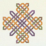 JM-054 Dinky-Dyes DD Designs More Knotwork Crosses  With Silk Pack