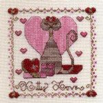 JM-028 Dinky-Dyes DD Designs Kitty Love With Silk Pack